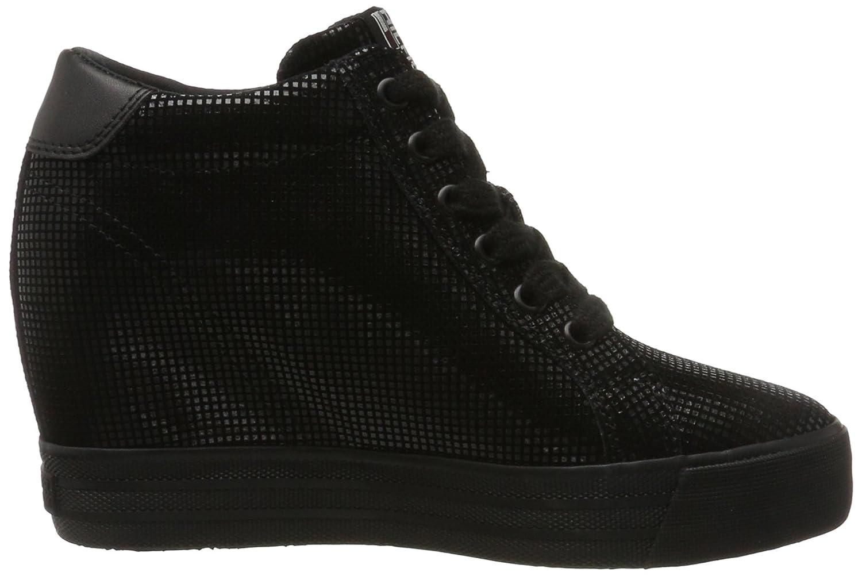 Hilfiger Denim Damen N1385ice Wedge 5z2 Hohe Sneaker: Amazon.de: Schuhe &  Handtaschen