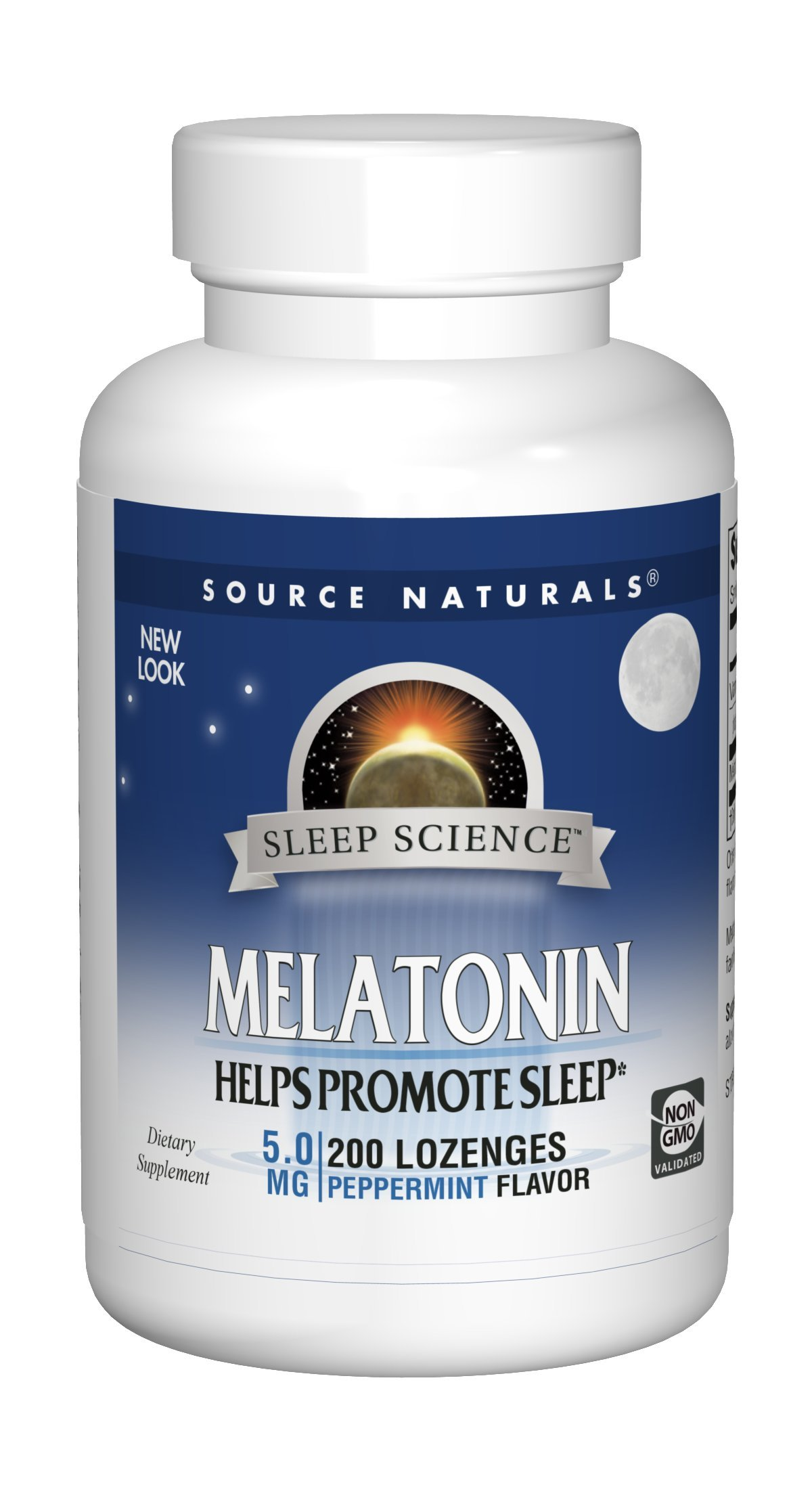 Source Naturals Sleep Science Melatonin 5mg Sleep Support Peppermint Flavor - 200 Lozenges by Source Naturals