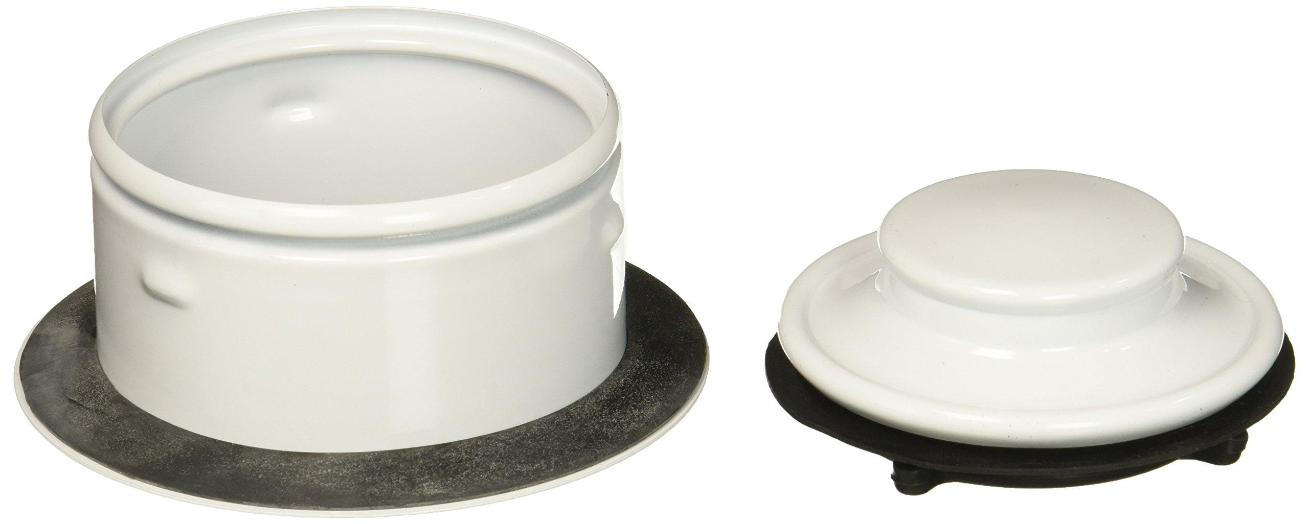 Waste King 3152 3150 Extended Sink flange, White