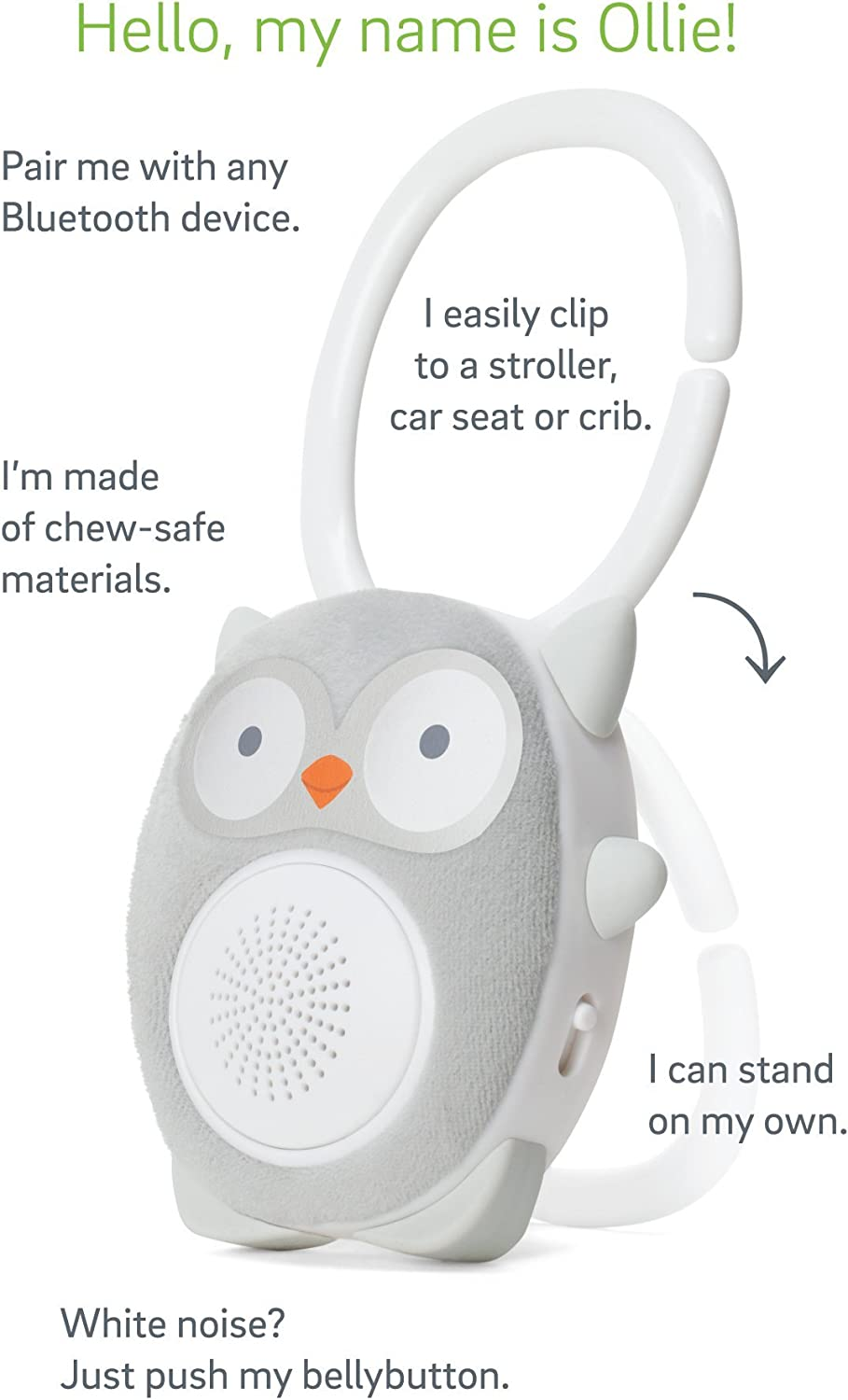 SoundBub by WavHello White Noise Machine and Bluetooth Speaker Benji The Bear Portable and Rechargeable Baby Sleep Sound Soother Brown
