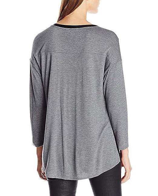 Primavera Otoño Mujeres Tops Casual T-Shirt Jumpers Blusa Remata tee Moda Cuello V Camisetas de Manga Larga Suéter Blouses: Amazon.es: Ropa y accesorios
