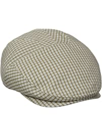 Henschel Mens New Shape Checked Pattern Ivy Hat with Cotton Lining Newsboy Cap