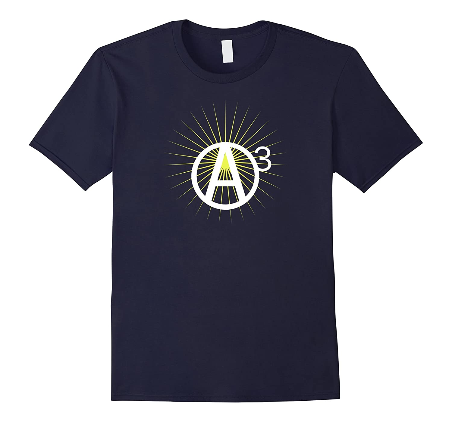 Agorist Anarchy A Circle Number 3 Star Burst Tee Shirt-Vaci