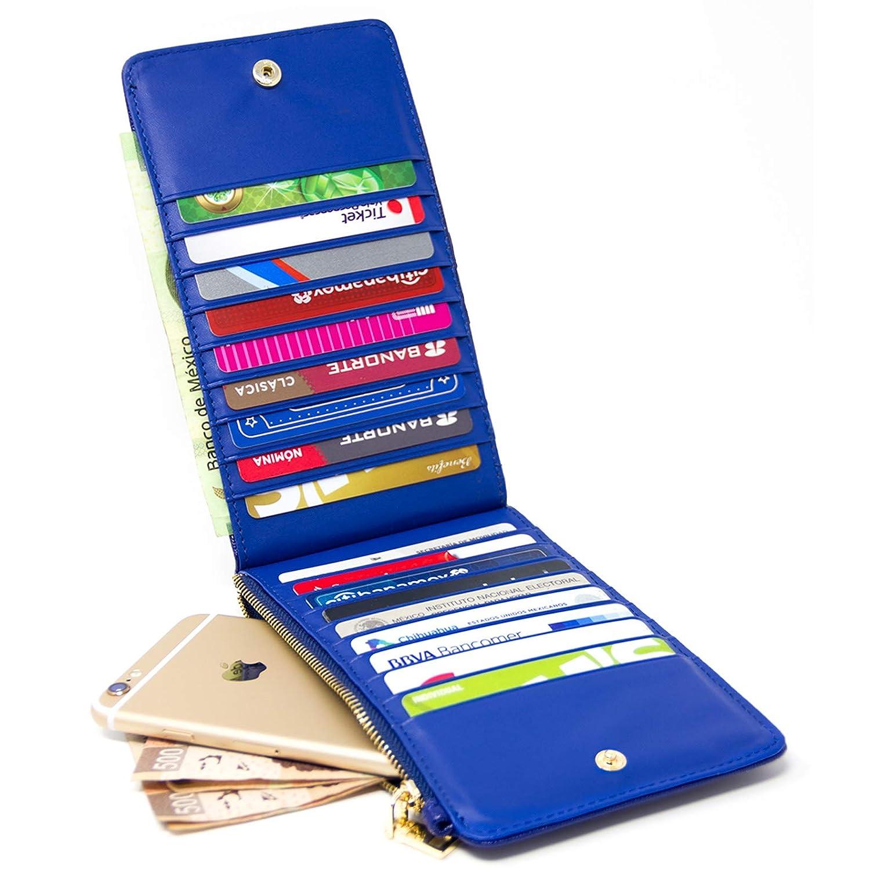 08c42f677 Vedicci Cartera de Piel Sintetica PU para Mama/Mujer. Billetera para Dama.  Gran Capacidad para Tarjetas, billetes y monedas.