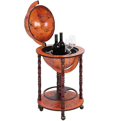 Surprising Jago Bar Globe Drinks Cabinet Mini Bar Stand Bottle Glass Holder Red Home Interior And Landscaping Eliaenasavecom