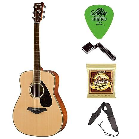 Yamaha FG820 Guitarra acústica con cuerdas extra, pics, cuerda de ...