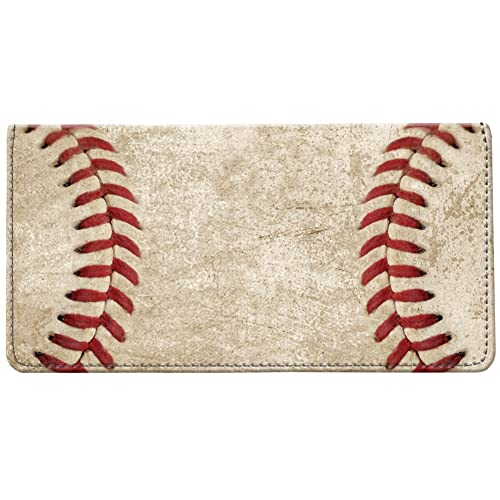 amazon com snaptotes baseball stitches design checkbook cover shoes