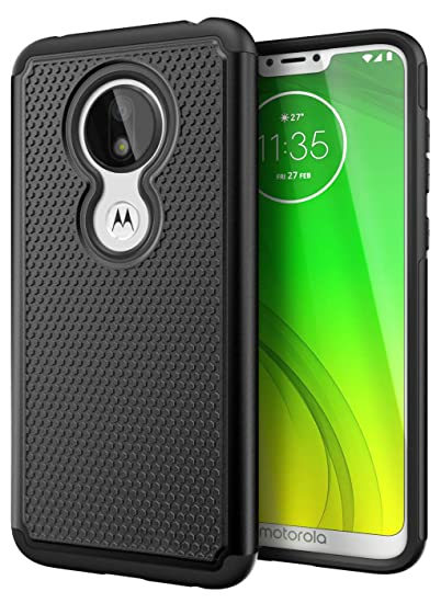 new product f5090 cb138 Cimo Armor Moto G7 Power Case with Shockproof Dual Layer Protection and  Rugged Hybrid Shell for Motorola Moto G7 Power - Black