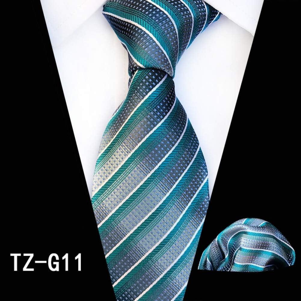 Últimas Colecciones Especial CDBGPZLD Azul Novedad Geometría Patrón Hombre Tie Hanky Set Regalo de Fiesta de Negocios para él TZ-G11 o9iXzH b2CENv