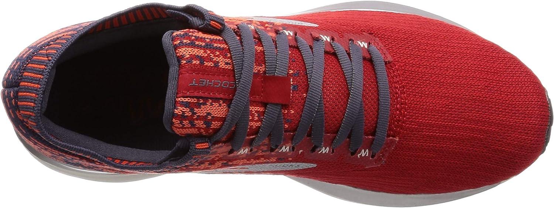 Brooks Mens Ricochet Running Shoe Red/Orange/Grey