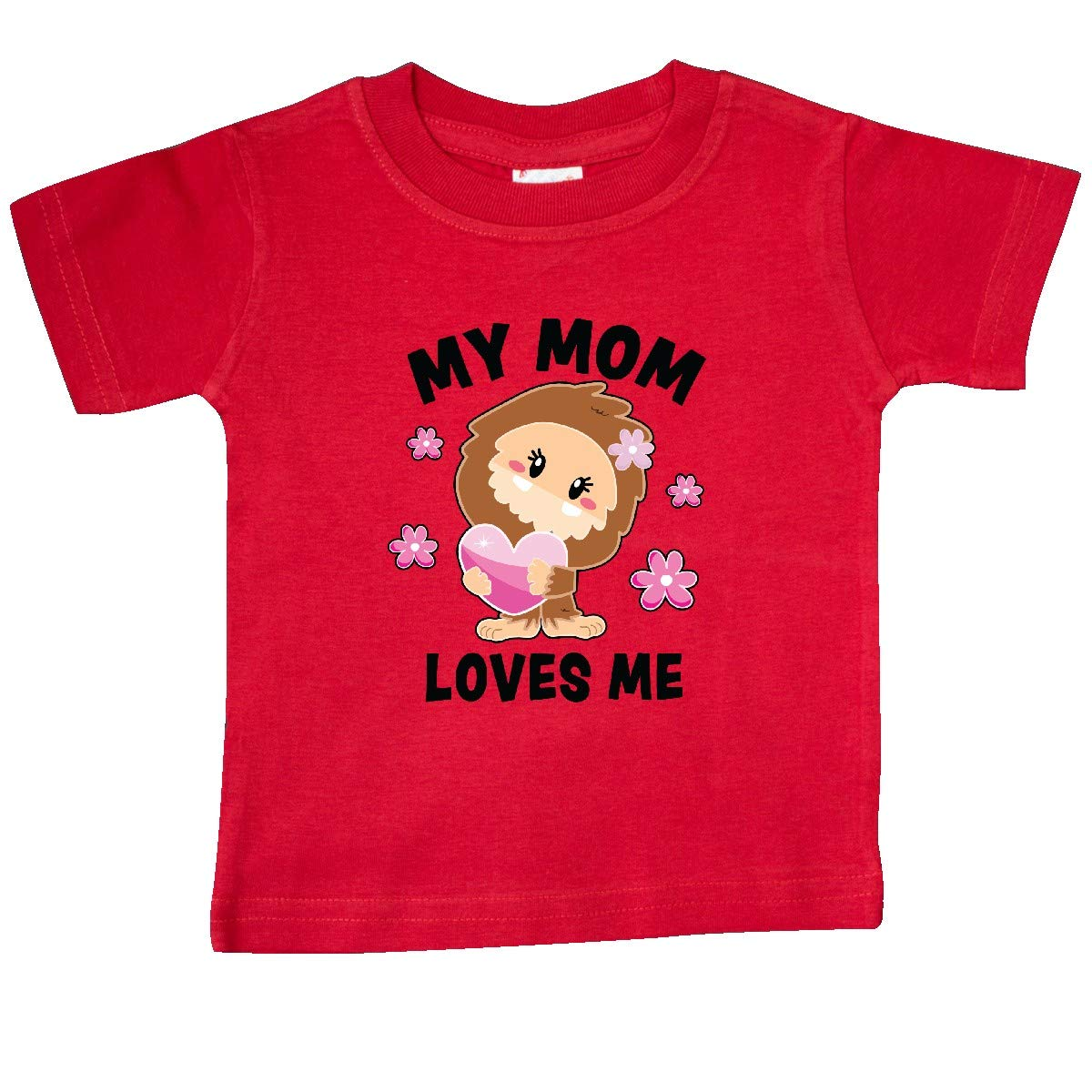 inktastic My Mom Loves Me with Bigfoot Baby T-Shirt