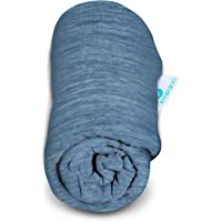 PharMeDoc Pregnancy Body Pillow Replacement Cooling Cover (Only) for U Shaped Body Pillow with Detachable Extension ONLY - Dark Grey