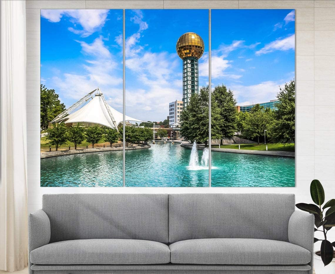 Marchak Knoxville Wall Art, Knoxville Skyline, Knoxville Canvas Print, Office Decor Tennessee Wall Art Knoxville Photo Home Decor, Knoxville Poster