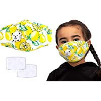 Anti Pollution Child's Masks, Reusable Kids Colourful Face Masks, Comes With Replaceable Filters and Respiratory Valve…