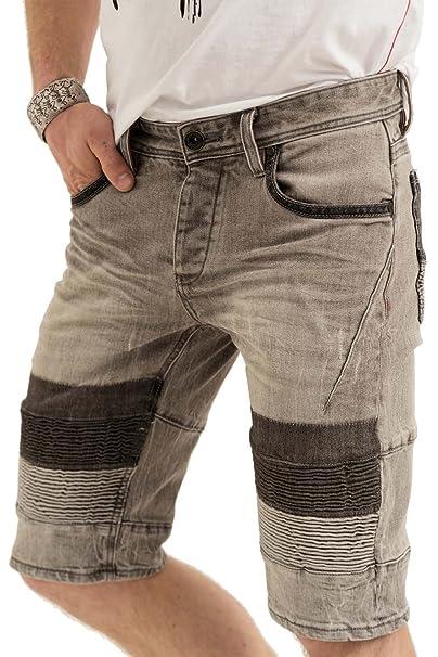 trueprodigy Casual Hombre Marca Jeans Pantalon Corto Elastica Ropa Retro Vintage Rock Vestir Moda Deportivo Vaquero