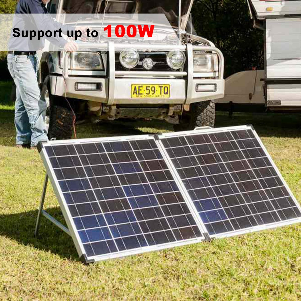 Air Jade Angle Adjustable Solar Panel Tilt Mount Brackets Aluminum Alloy Light Weight/&Heavy Duty,Grid Tie or Off Grid,22inch Brackets Supports up to 100W
