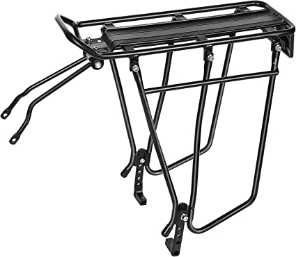 Black Large Bike Wire Basket Bicycle Luggage Carrier Bike Road Rear Pannier Rack Install Component Cycling Accessories
