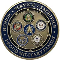 Proud Military Space Force Challenge Coin - All Services Military Challenge Coins, Marines, Army, Air Force, Navy, Coast…