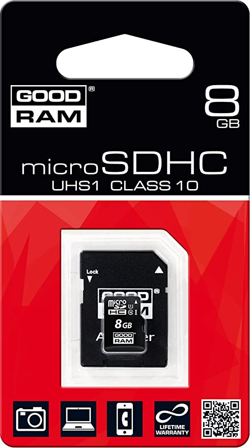 Goodram Micro SD C10 - Tarjeta de Memoria Micro SDHC de 8 GB ...