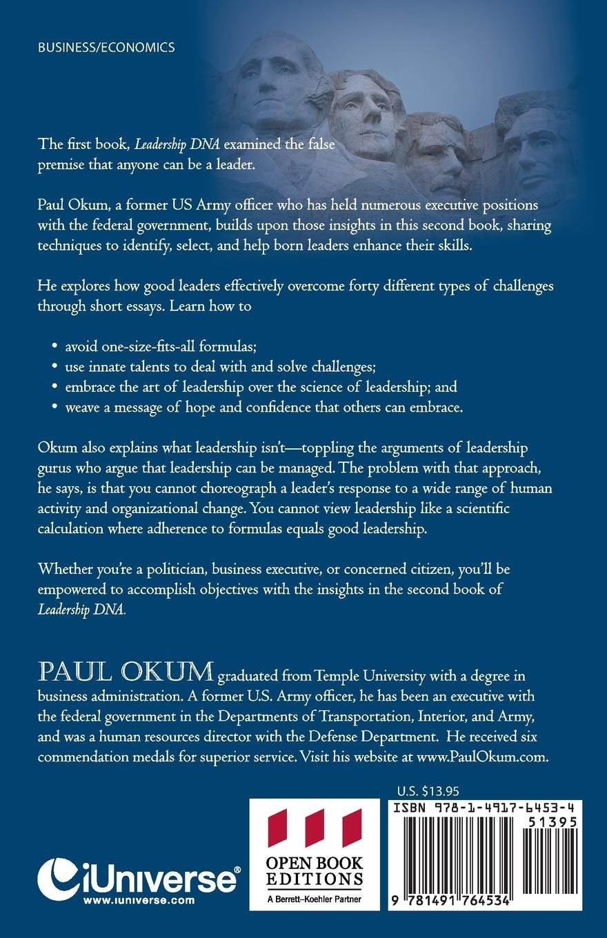 Essay On The Bluest Eye Leadership Dna Book Two Recognizing Good And Poor Leadership In The Real  World Paul Okum  Amazoncom Books Sample Of Essay About Education also Essay On The Movie Crash Leadership Dna Book Two Recognizing Good And Poor Leadership In  Sample Graduate Essays For Admission