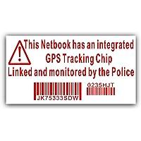 Notizbuch mit Sticker-Attrappe Überwachungskamera GPS Handgerät Polizei Blechschild-Dell, HP, Apple, Mac