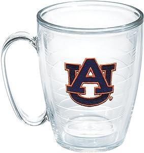 Tervis 1048744 Auburn University Emblem Individual Mug, 16 oz, Clear