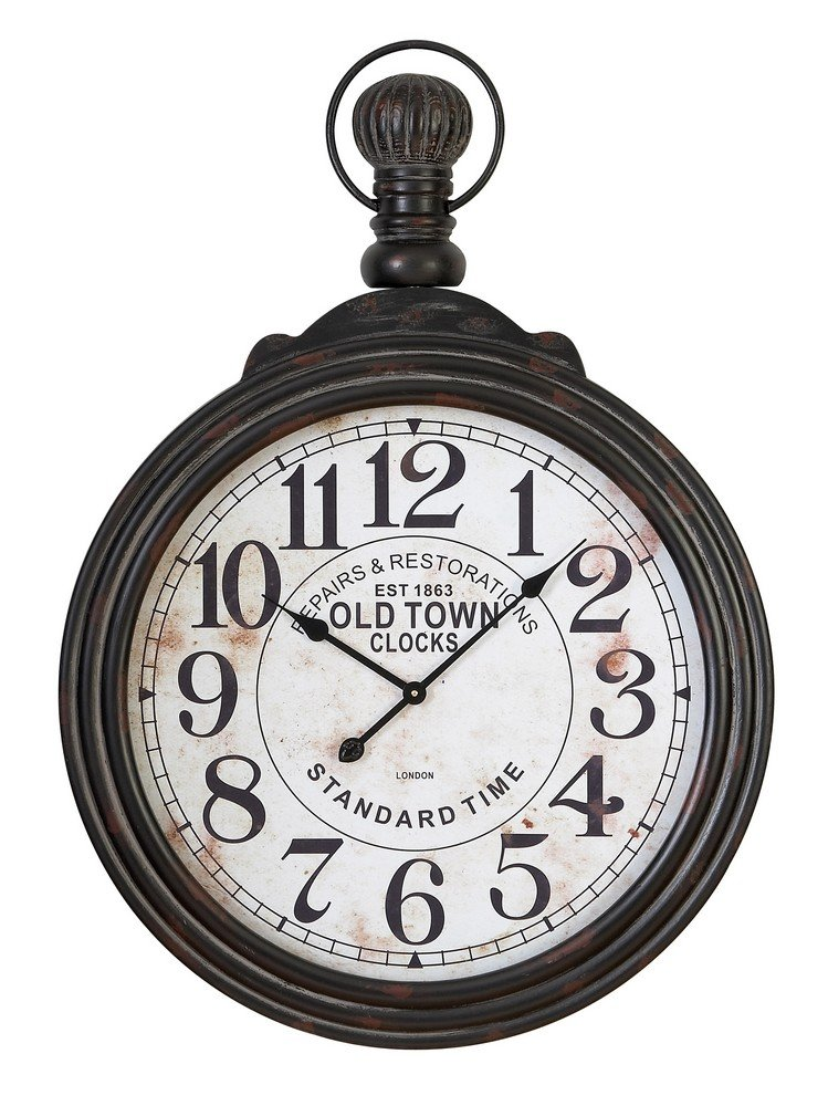 Amazon com aspire home accents large pocket watch style wall clock 28 in wide home kitchen