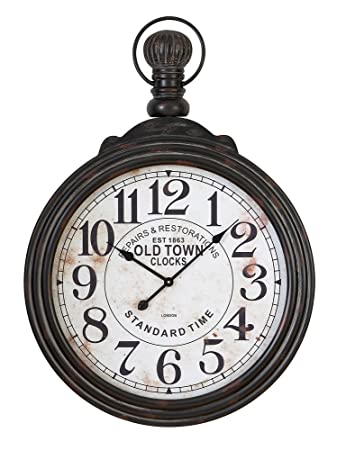 pocket watch style large wall clock