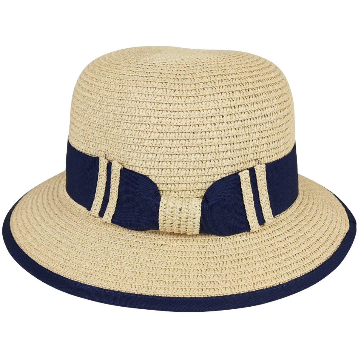 Lanzom Women Wide Brim Straw Foldable Roll up Cap Fedora Beach Sun Hat  UPF50+ (A-Beige) at Amazon Women s Clothing store  4be833eef690