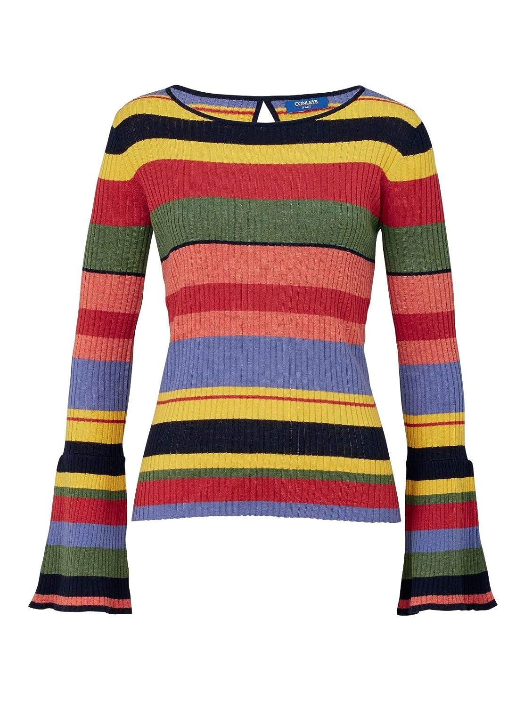 CONLEYS BLUE Damen Pullover mit Kontrast Details KeineNicht