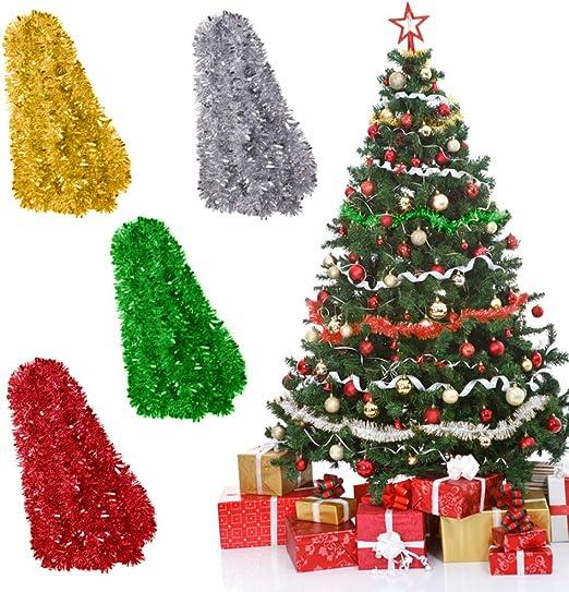 Amazon Com Koogel 4 Colors Christmas Tree Garland 30 Ft Christmas