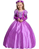 iFigure Girl's Purple Princess Dress up Costume Fancy Party Dress