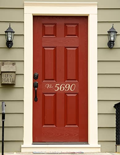 9d61fad0e181 Image Unavailable. Image not available for. Color: Number Address Decal - Front  Door Numbers - Outdoor ...
