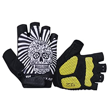 Skull Outdoor cycling gloves Bicycle GEL Pads Shockproof Full Finger Gloves