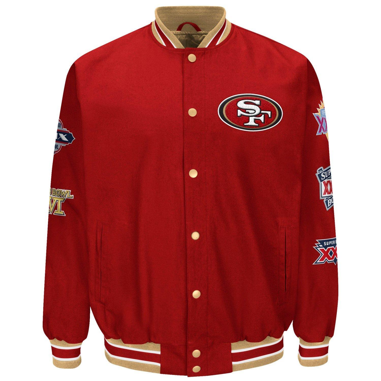 "San Francisco 49ers NFL ""Set-Up"" Super Bowl Commemorative Canvas Jacket G-III Sports"