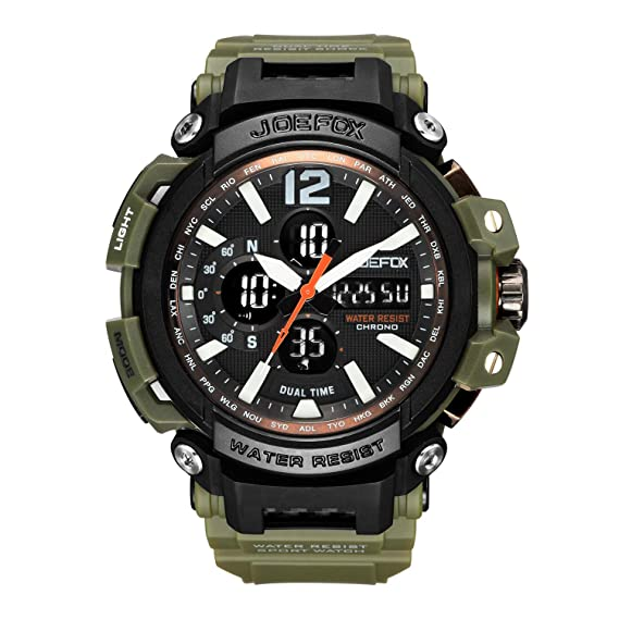 Reloj Militar para Hombre, analógico Digital Militar, Esfera Grande, 56 mm de diámetro