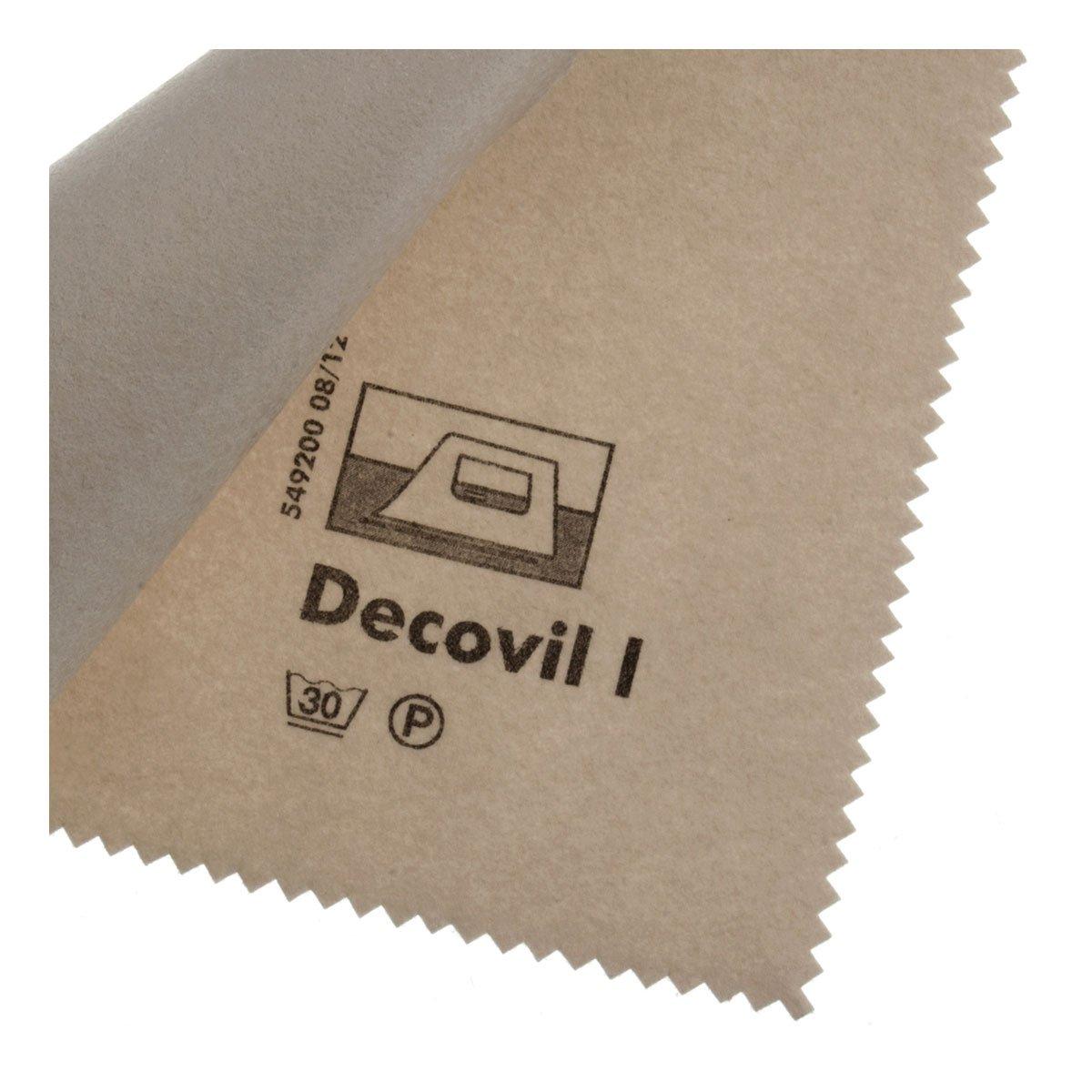 Vilene Decovil I interfacing-with a leather-like handle beige-coloured; width 35.10 inch/90cm, price per meter by Freudenberg/Vlieseline TOKO-Kurzwaren