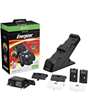 PDP Energizer Xbox One Controller Charger with Rechargeable Battery Pack for Two Wireless Controllers Charging Station Black (Package may Vary) - Standard (Black) Edition
