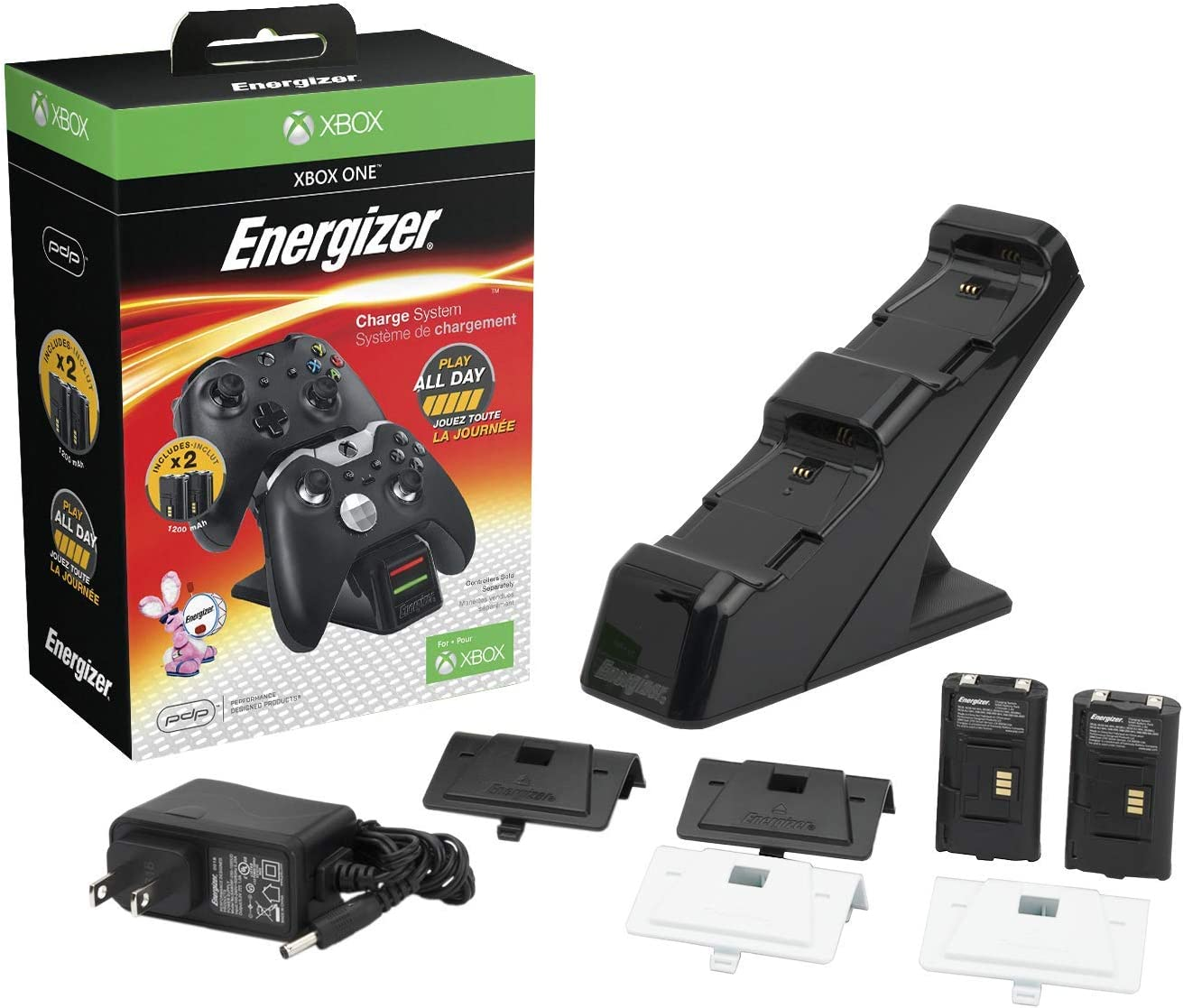 Amazon.com: PDP Energizer Xbox One Controller Charger with ...