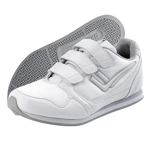 Killtec Damen Sneakers, Hallenschuhe KP 720 Velcro, Sportschuhe Weiss, 150263-3, Gr 36