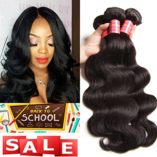 3-bundled Remy Brazilian wave hair extensions