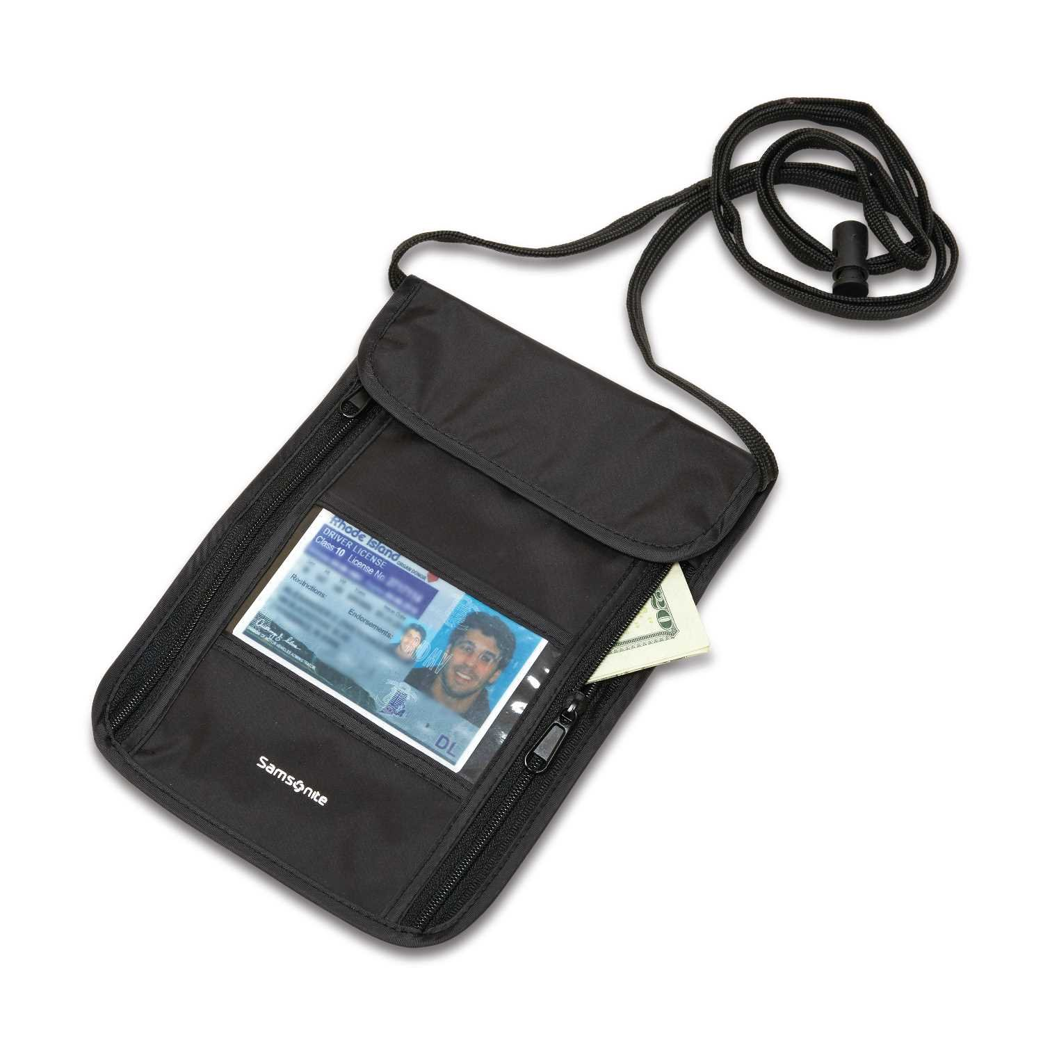 Samsonite RFID Security Neck Pouch, Black Samsonite Accessories 91149-1041