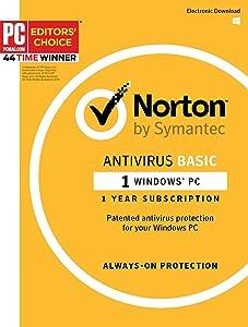 Norton AntiVirus - 1PC 1 Year Subscription - Product Key Card - 2019 Ready