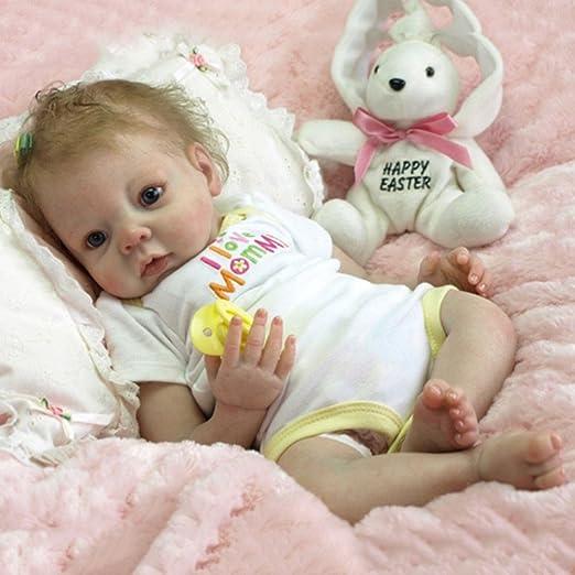 "11/""//22/"" Lifelike Newborn Silicone Vinyl Reborn Boy//Girl Dolls Gift Baby Handmade"