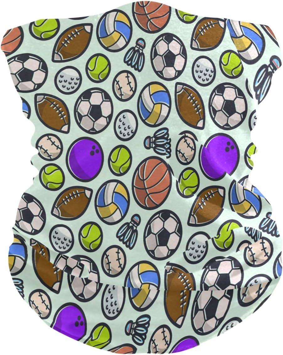 LDIYEU Deporte Soccer Baloncesto Pañuelo Bandana para la Cara 3D Balaclava Motero Bufanda Ciclismo Bici Máscara Facial Protección UV para Ciclismo Niñas Mujeres Hombres(2PACK)