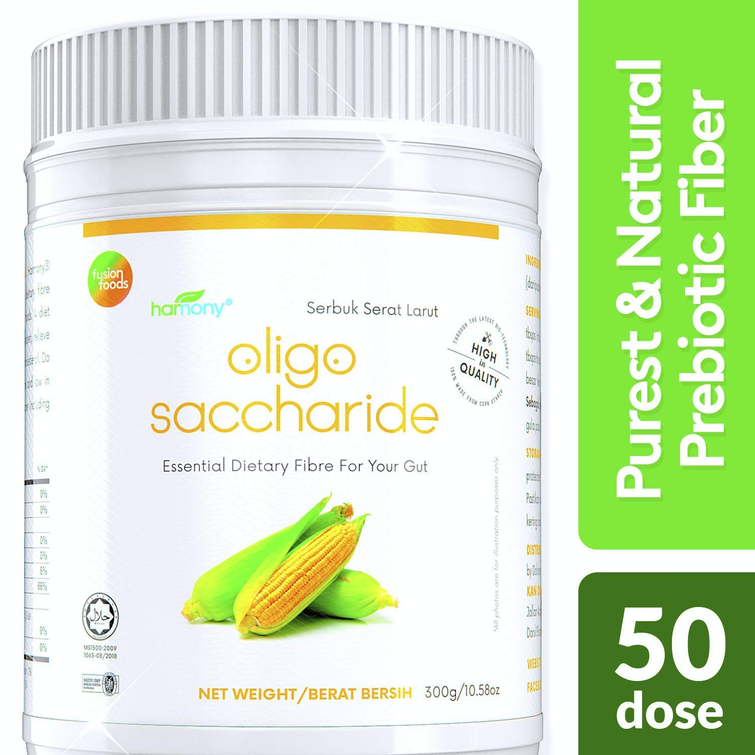 100% Natural Prebiotic Fiber for Probiotic Support | Rejuvenate Gut Health | Energy & Immune Prebiotics Supplement for Weight Loss & Mood | 10x More Effective with 90% Purity IMO900 Soluble Fiber 300g by fusionfoods