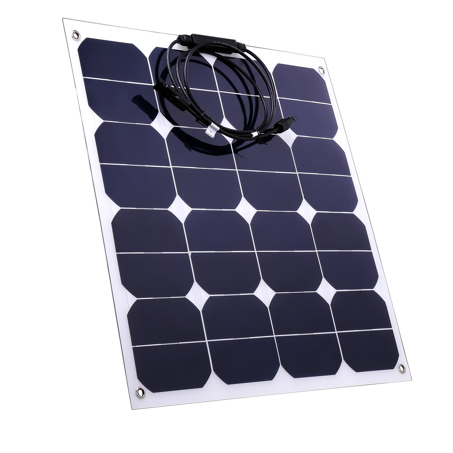 50W Solar Panel Sunpower 18V 12V Lightweight Bendable Semi Flexible Solar Panel Charger with MC4 Connector for RV Boat Cabin Tent