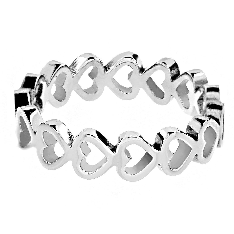 West Coast Jewelry   ELYA Women's Stainless Steel Open Heart...