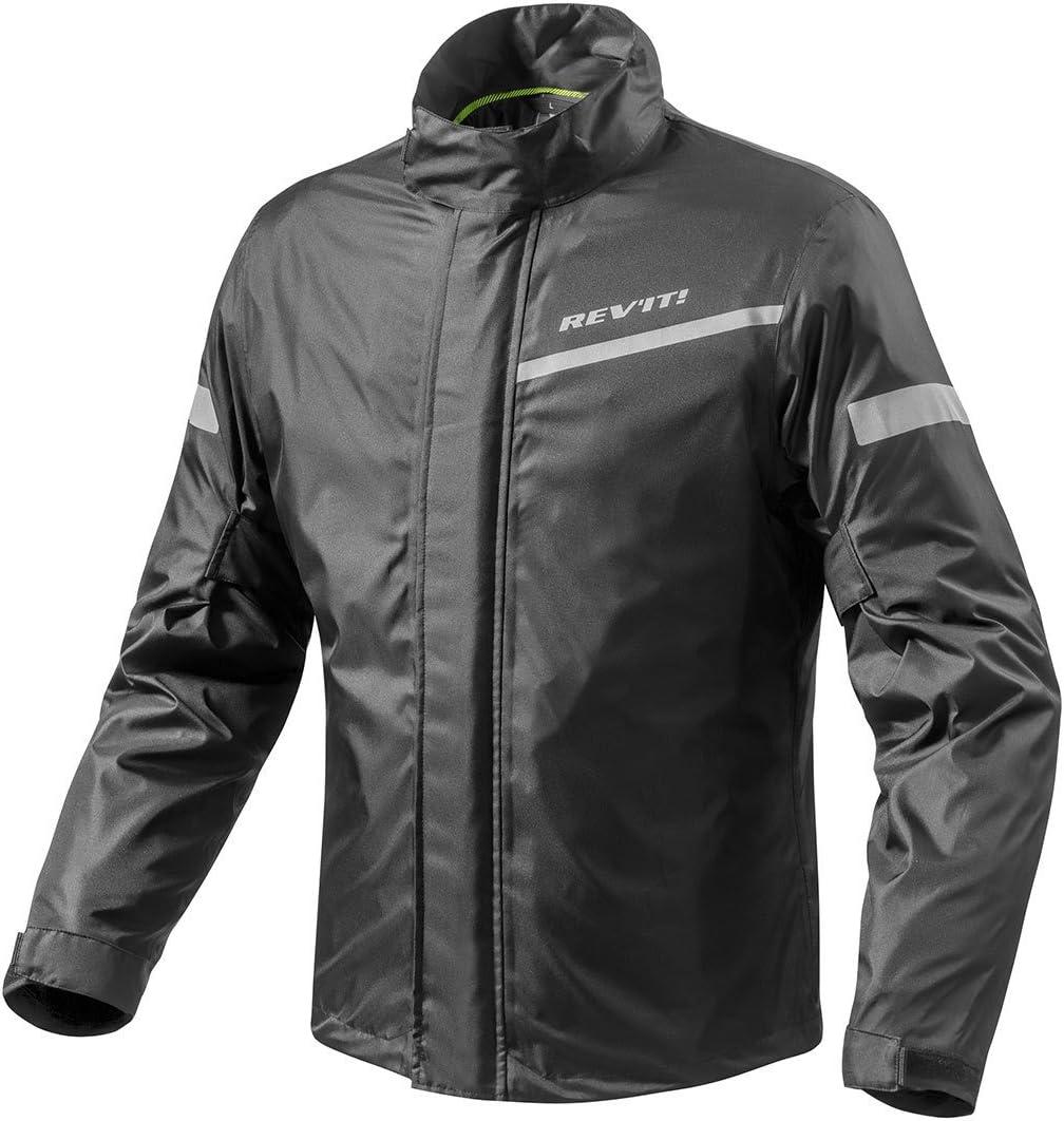 FRC010-0010-XS Rev It Cyclone 2 H2O Rainwear Motorcycle Over Jacket XS Black