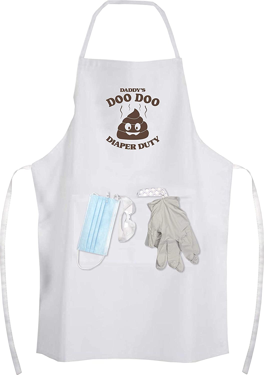 Daddy's Doo Doo Diaper Duty Apron Kit - Gag Gifts for The New Dad, Perfect Baby Shower Gift for Dad, Fun New Unique Father's Day Gift idea Suite 925 Design DD-001